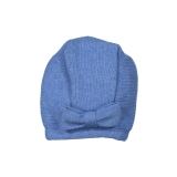 Blue jeans scalloped knit bonnet