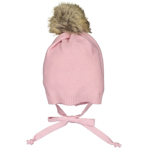 Light Pink Pom-pom Hat