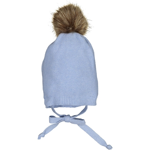 Light Blue Pom-pom Hat