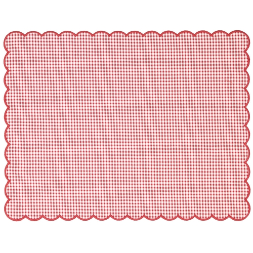 Christmas Gingham Set of Two Placemats