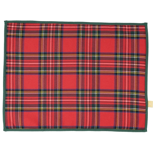 Christmas Tartan Set of Two Placemats