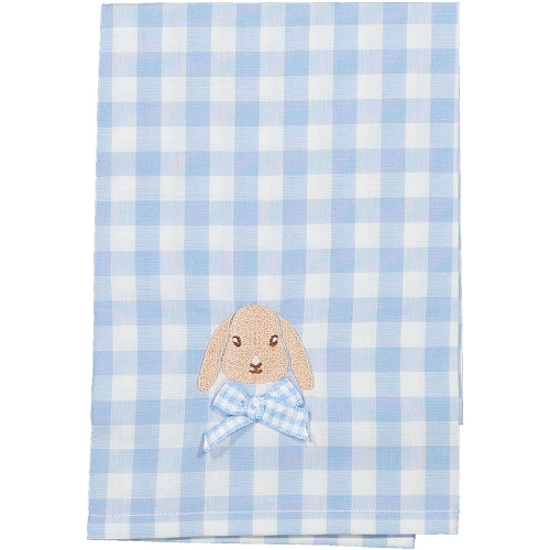 Caramel the Bunny Blue Gingham Set of Two Napkins