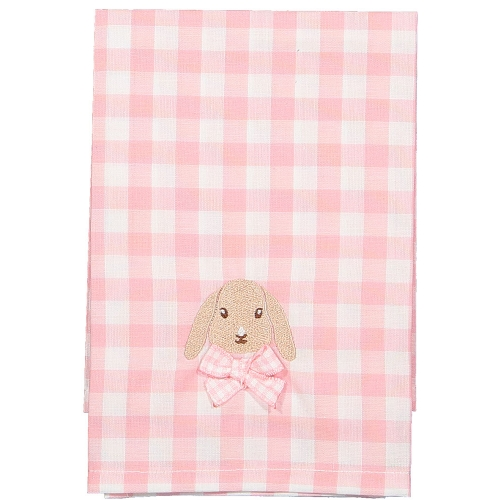 Caramel the Bunny Pink Gingham Set of Two Napkins