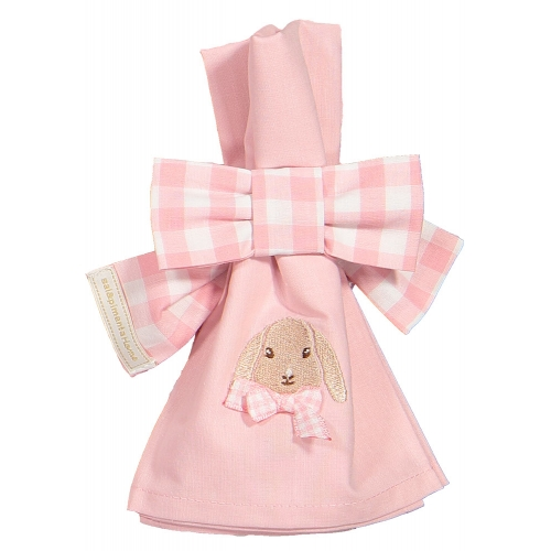 Caramel the Bunny Pink Set of Two Napkin Bows